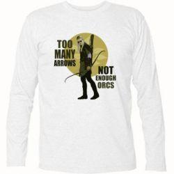Футболка с длинным рукавом Too many arrows, not enought orcs - FatLine