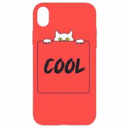 Чехол для iPhone XR Top cat and the inscription cool