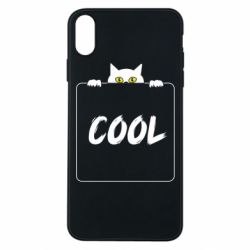 Чехол для iPhone Xs Max Top cat and the inscription cool