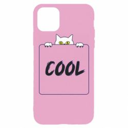 Чехол для iPhone 11 Pro Max Top cat and the inscription cool
