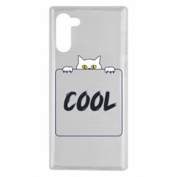 Чехол для Samsung Note 10 Top cat and the inscription cool