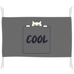 Флаг Top cat and the inscription cool