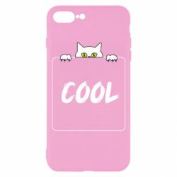 Чехол для iPhone 7 Plus Top cat and the inscription cool