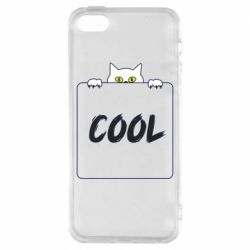 Чехол для iPhone5/5S/SE Top cat and the inscription cool