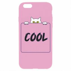 Чехол для iPhone 6/6S Top cat and the inscription cool