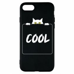 Чехол для iPhone 8 Top cat and the inscription cool