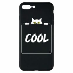 Чехол для iPhone 8 Plus Top cat and the inscription cool