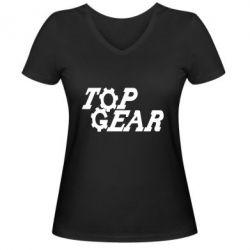 Жіноча футболка з V-подібним вирізом Top Gear I
