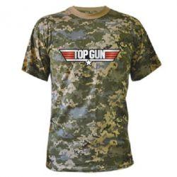 Камуфляжная футболка Top Gun Logo