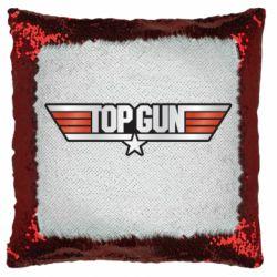 Подушка-хамелеон Top Gun Logo