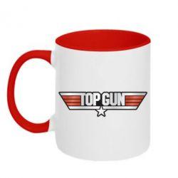 Кружка двоколірна 320ml Top Gun Logo