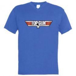 Чоловіча футболка з V-подібним вирізом Top Gun Logo