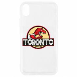 Чехол для iPhone XR Toronto raptors park