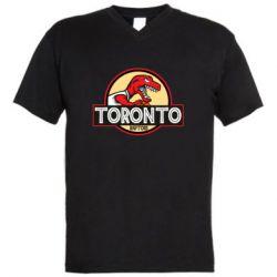 Мужская футболка  с V-образным вырезом Toronto raptors park
