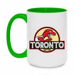 Кружка двухцветная 420ml Toronto raptors park