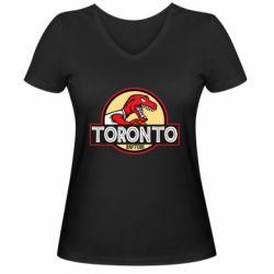 Женская футболка с V-образным вырезом Toronto raptors park