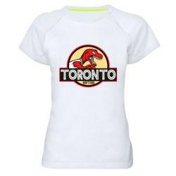 Женская спортивная футболка Toronto raptors park