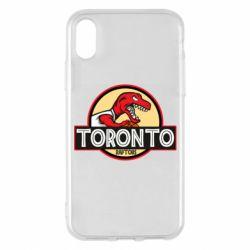 Чехол для iPhone X/Xs Toronto raptors park