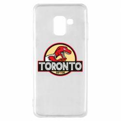Чехол для Samsung A8 2018 Toronto raptors park