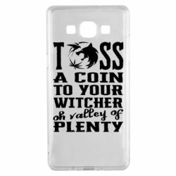 Чехол для Samsung A5 2015 Toss a coin  to your  witcher  oh valley of  plenty