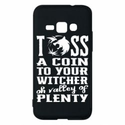 Чехол для Samsung J1 2016 Toss a coin  to your  witcher  oh valley of  plenty