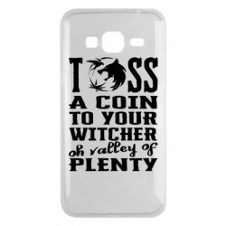 Чехол для Samsung J3 2016 Toss a coin  to your  witcher  oh valley of  plenty