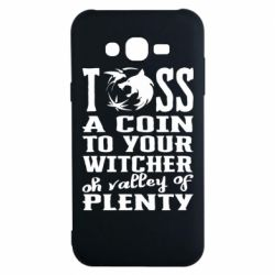 Чехол для Samsung J7 2015 Toss a coin  to your  witcher  oh valley of  plenty