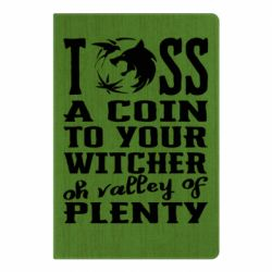 Блокнот А5 Toss a coin  to your  witcher  oh valley of  plenty
