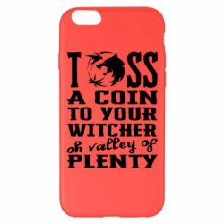 Чехол для iPhone 6 Plus/6S Plus Toss a coin  to your  witcher  oh valley of  plenty