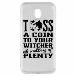 Чехол для Samsung J3 2017 Toss a coin  to your  witcher  oh valley of  plenty