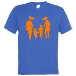 Мужская футболка  с V-образным вырезом Тоталитаризм