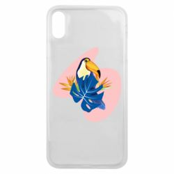 Чехол для iPhone Xs Max Toucan and leaves