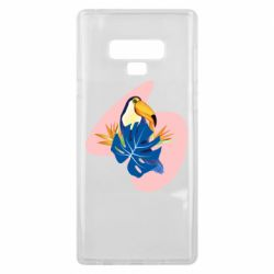 Чехол для Samsung Note 9 Toucan and leaves