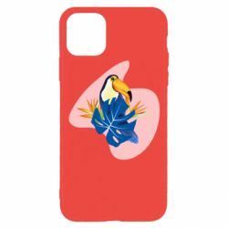 Чехол для iPhone 11 Pro Toucan and leaves