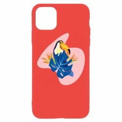 Чехол для iPhone 11 Pro Max Toucan and leaves