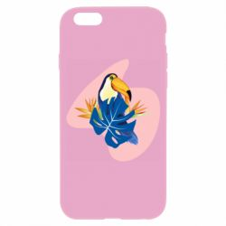 Чехол для iPhone 6/6S Toucan and leaves