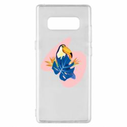 Чехол для Samsung Note 8 Toucan and leaves