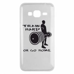 Чехол для Samsung J3 2016 Train Hard or Go Home - FatLine