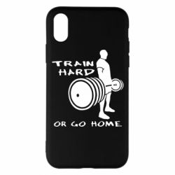 Чехол для iPhone X Train Hard or Go Home - FatLine