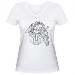 Женская футболка с V-образным вырезом Трансформер 3