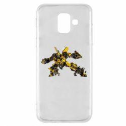 Купить Transformers, Чехол для Samsung A6 2018 Transformer Bumblebee, FatLine