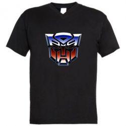 Чоловіча футболка з V-подібним вирізом Трансформери Лого 1