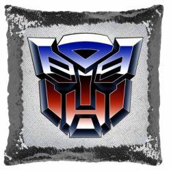 Подушка-хамелеон Трансформери Лого 1