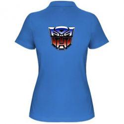 Жіноча футболка поло Трансформери Лого 1