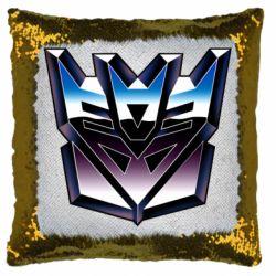 Подушка-хамелеон Трансформеры Лого 2