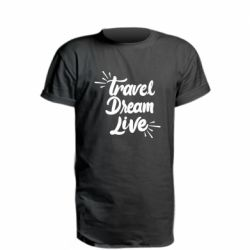 Удлиненная футболка Travel Dream Live