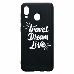 Чехол для Samsung A20 Travel Dream Live