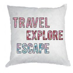 Подушка Travel Explore Escape