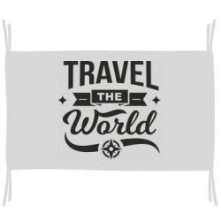 Прапор Travel the world and compass