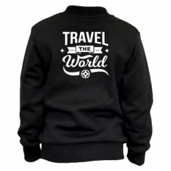 Детский бомбер Travel the world and compass